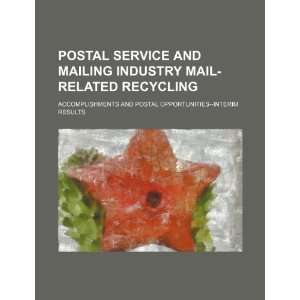 Postal Service and mailing industry mail related recycling