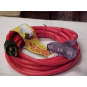 25 foot Rv Generator Cord with lighted Triple Tap