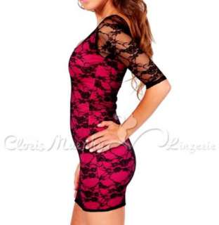 New Lace Fashion Sexy Party Date Women Clubwear Cocktail Mini Dress