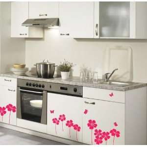 Flower Decor Mural Art Sticker Wall Paper WDC 516