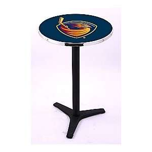 Atlanta Thrashers HBS Pub Table with Black Wrinkle base
