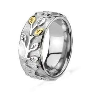 8MM Polished Stainless Steel Wedding Band Ring For Women