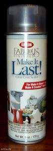 KRYLON MAKE IT LAST CLEAR COAT SPRAY PAINT SEALER 724504182009