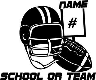Football Personalized Vinyl Decal Sticker Car Truck