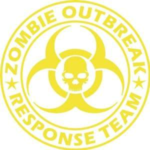 Large Zombie Outbreak Response Team NEW DESIGN Die Cut Vinyl Decal