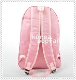 SNSD girls Generation KPOP PINK SCHOOLBAG BACKPACK BAG NEW