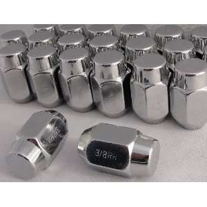 3/8 Chrome Lug Nuts 13/16 Head, 60° Set of 20 Lugs 3/8