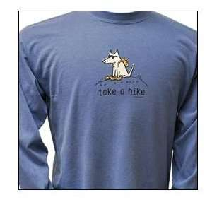 Cotton Long Sleeved T Shirt   Garment Dyed Take a Hike Long Sleeved