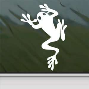 Tree Frog Amphibian Climbing White Sticker Laptop Vinyl