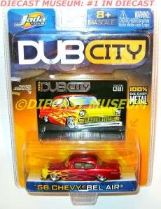 1956 56 CHEVY BEL AIR FLAMES DUB CITY OLD SKOOL DIECAST JADA