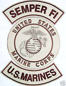 SEMPER FI,MARINES,CORPS,USMC,BIKER,MILITARY,PATCH 11