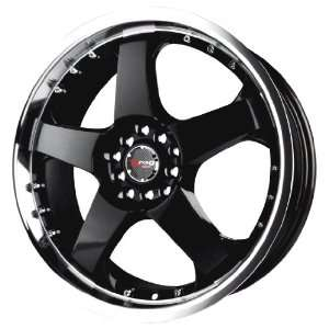 Drag D11 Gloss Black Machined Wheel (17x7/5x100mm