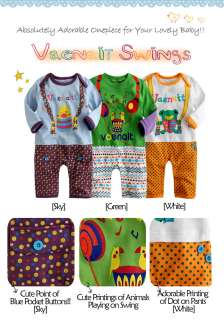 NWT Newborn & Baby Girl Boys Cute Bodysuit  Vaenait Swings
