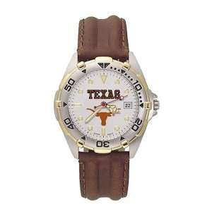 Texas Longhorns Mens NCAA All Star Watch (Leather Band
