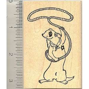 Rodeo Cowboy Ferret Rubber Stamp Arts, Crafts & Sewing