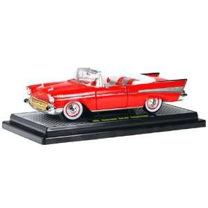 1957 Chevy Bel Air Convertible 1/24 Matador Red Toys