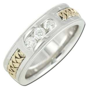 Two tone Womens Diamond Ring Jewelry