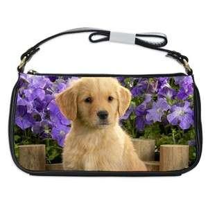 Golden Retriever Dog Puppy Puppies #1 Shoulder Clutch Bag
