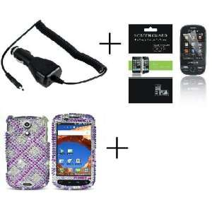 SAMSUNG EPIC 4G GALAXY S PRO Plaid Light Purple And White