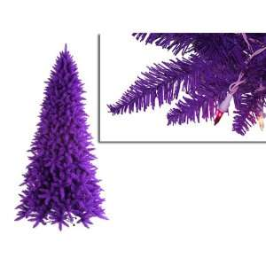 Pre Lit Slim Purple Ashley Spruce Christmas Tree   Clear & Purple