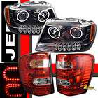 99 04 JEEP GRAND CHEROKEE CCFL HALO LED PROJECTOR HEADLIGHTS & LED