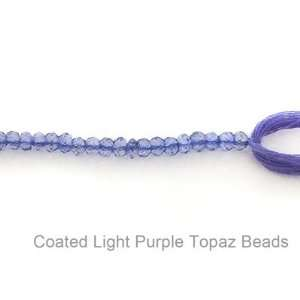 Coated Light Purple Topaz Beads 14 Strand Everything