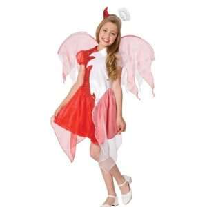 Girls Double Trouble Costume Angel & Devil Large 10 12 Toys & Games
