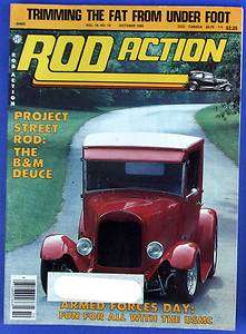 OCT 1985,1940 CHEVY SEDAN DELIVERY,1929 FORD PICK UP,OCTOBER,MAGAZINE