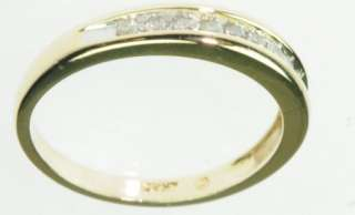 10K SOLID YELLOW GOLD DIAMOND WEDDING BAND ESTATE RING J189266