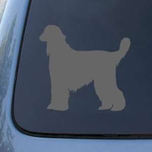 AFGHAN SILHOUETTE   Dog   Vinyl Car Decal Sticker #1480  Vinyl Color