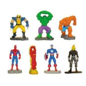 Marvel Vending Machine Super Hero Mini Figures   Lot of 16