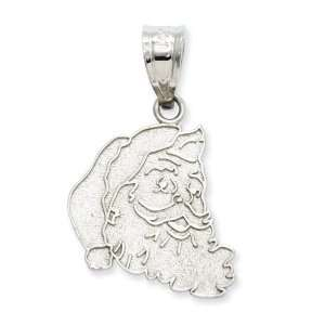 14k Gold White Gold Santa Head Charm Jewelry