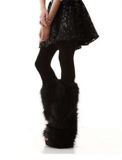 Boot Cuff Fluffy Soft Furry Faux Fur Leg Warmers Boot Toppers