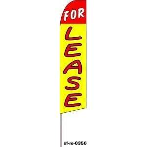For Lease Red Yellow Extra Wide Swooper Feather Business