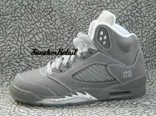 Nike Air Jordan 5 Retro GS V 440888 005 Wolf Grey Y Youth Kids 3.5Y