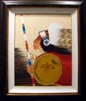 Rance Hood GALLERY FRAMED Indian ORIGINAL Oil PAINTING ARTWORK ART