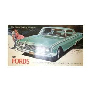 1960 FORD Sales Brochure Literature Book Piece Automotive
