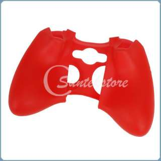 Protective Skin Case Cover for XBOX 360 Game Controller Red