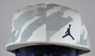 NIKE AIR JORDAN 20 WHITE LIGHT GREY AND BLACK FITTED 7 3/4 (HATS19