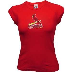 St. Louis Cardinals Womens Official Logo Cap Sleeve Tee