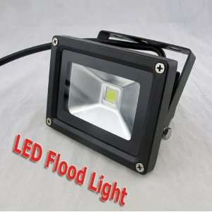 10W AC85 265V High Power White LED Waterproof Wall Floodlight black