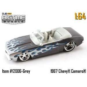 Muscle Grey 1967 Chevy Camaro Convertible 164 Die Cast Car Toys