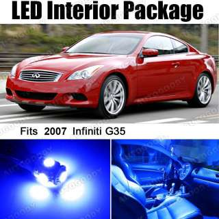 Blue LED Lights Interior Package Deal for Infiniti G35 Coupe