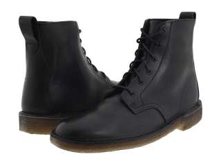 Clarks Classic Desert Mali Boot Black Soft Smooth Leather 34364