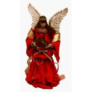 12 Inch Red Crepe Angel Christmas Tree Topper