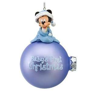 Disney World Park Mickey Mouse Babys First Christmas Ornament