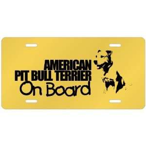 New  American Pit Bull Terrier On Board  License Plate