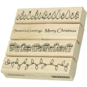 Penny Black Rubber Stamp Set 4X4 Christmas Time Arts