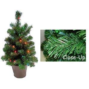 Potted Spruce Artificial Christmas Tree Multi Lights