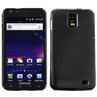 GALAXY S2 SKYROCKET i727 BRUSHED ALUMINUM ACRYLIC CASE BLACK